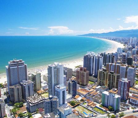 Vista aerea de Praia Grande/SP